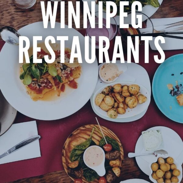 image of a table with text our favorite winnipeg restaurants